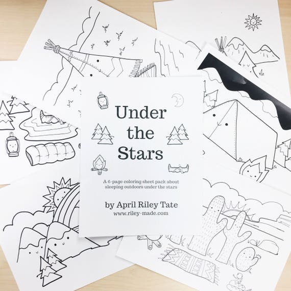 Coloring Sheet Set - Under the Stars