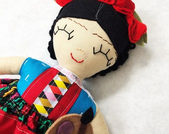 Frida Kahlo Rag Doll No. 4