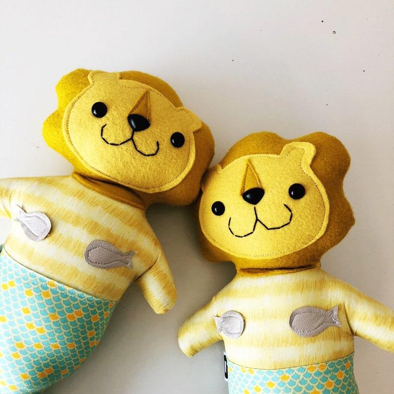 READY TO SHIP Stuffed Lion Purrmaid