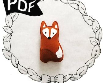 Little Friendly Fox PDF Plush Sewing Pattern