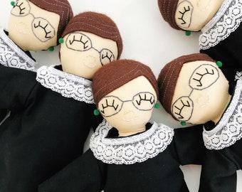 Ruth Bader Ginsburg Mini Rag Doll