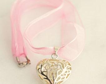 Heart Pendant Necklace, Love Jewelry, Valentines Jewelry