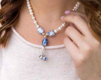 Cultured Pearl Necklace, Pearl Wedding Jewelry
