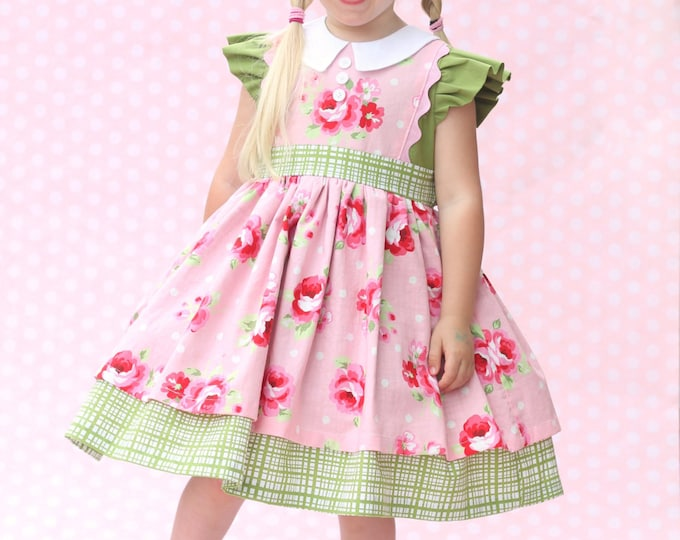 PDF Sewing Pattern: Georgia Vintage Dress - Size 6 Month - 10 Years