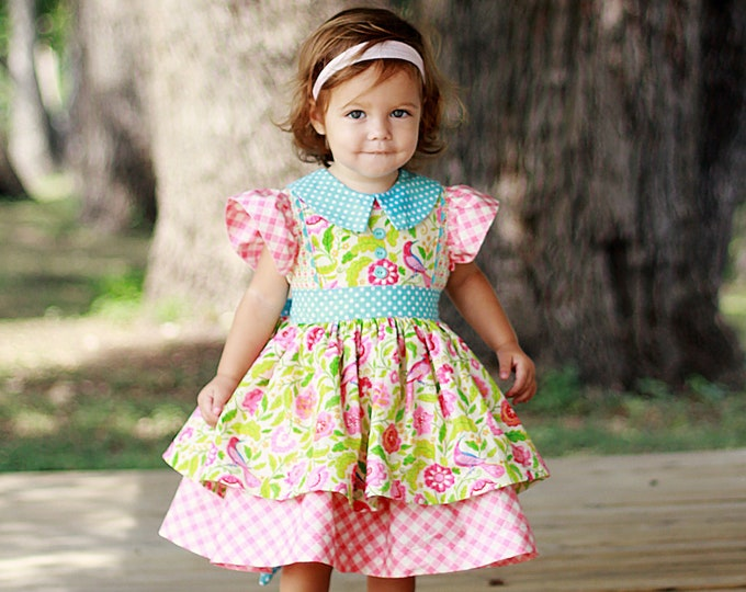 PDF Sewing Pattern: Georgia Vintage Dress - Size 6 Month - 10 Years