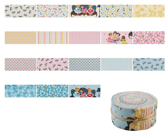 "Rolie Polie 40 2.5"" Strips - Petite Treat Fabric by Lindsay Wilkes for Riley Blake Designs"
