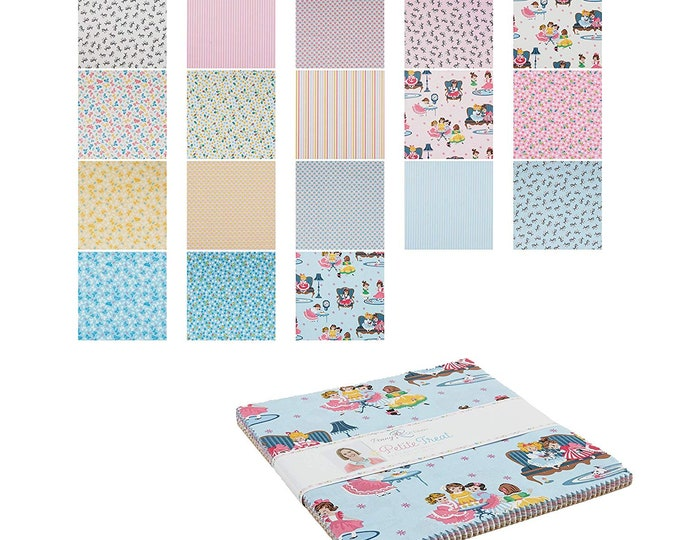 "10"" Stacker - 42 Pieces - Petite Treat Fabric by Lindsay Wilkes for Riley Blake Designs and Penny Rose Fabrics"