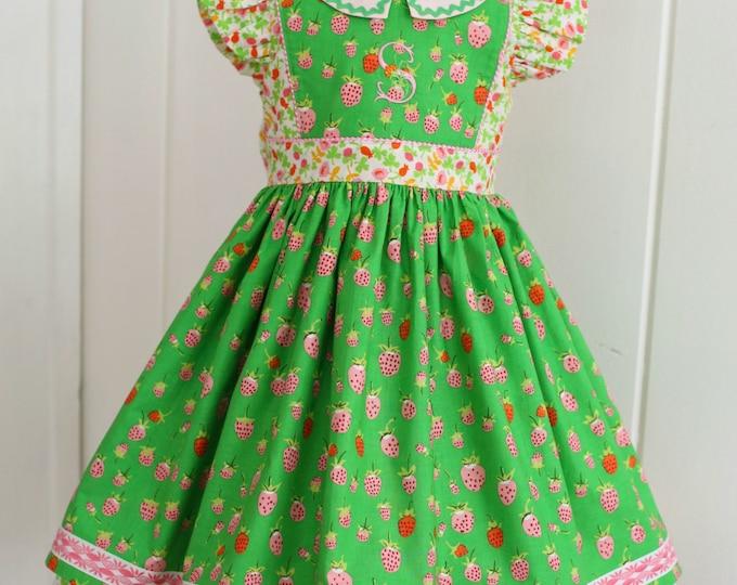 PDF Girls Dress Pattern: Georgia Vintage Dress Pattern - Size 6 Month - 10 Years