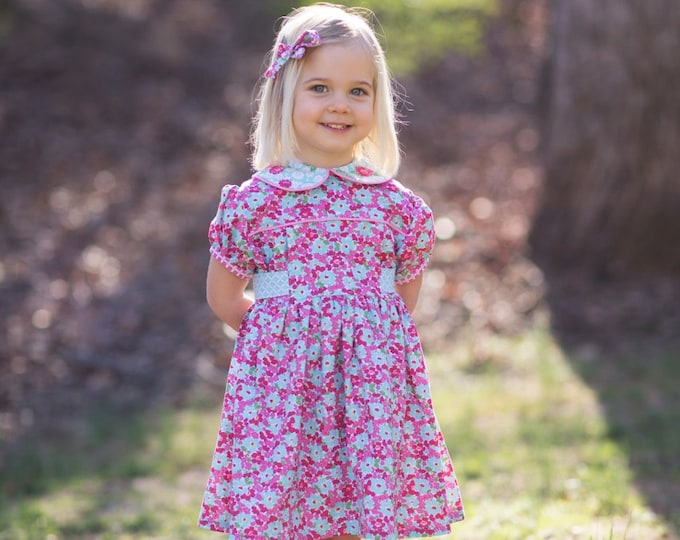 PDF Adelaide Dress Pattern - Size 6 Month - Size 12 by The Cottage Mama