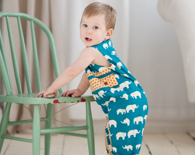 PDF Sewing Pattern: Run Around Romper for Boys and Girls - Size 6 Month - 6 Years