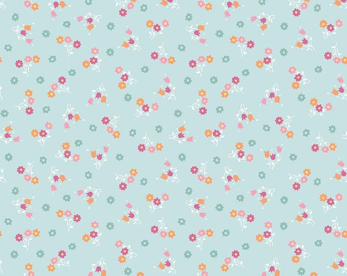 Perfect Party Fabric by Lindsay Wilkes from The Cottage Mama for Riley Blake Designs and Penny Rose Fabrics - Small Floral Blue