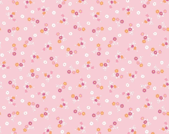 Perfect Party Fabric by Lindsay Wilkes from The Cottage Mama for Riley Blake Designs and Penny Rose Fabrics - Small Floral Pink