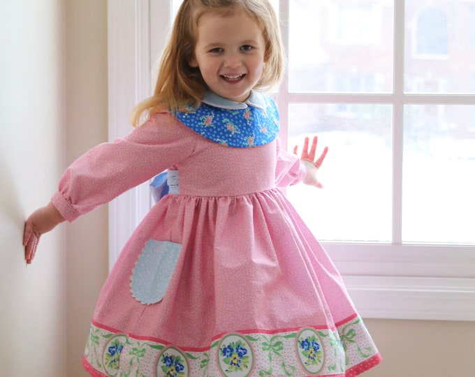 PDF Sewing Pattern: Beatrice Dress - Size 6 Month - 12 Years by The Cottage Mama