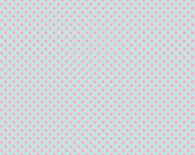 Perfect Party Fabric by Lindsay Wilkes from The Cottage Mama for Riley Blake Designs and Penny Rose Fabrics - Dots Blue Pink