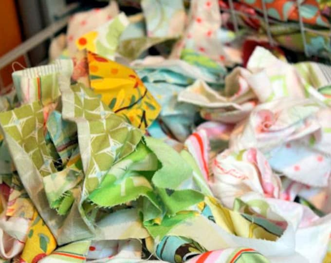 Designer Quilting Cotton Scraps, 1 pound by The Cottage Mama