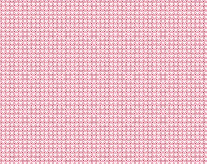 Love Letters Fabric by Lindsay Wilkes from The Cottage Mama for Riley Blake Designs - Ditsy Hearts Pink