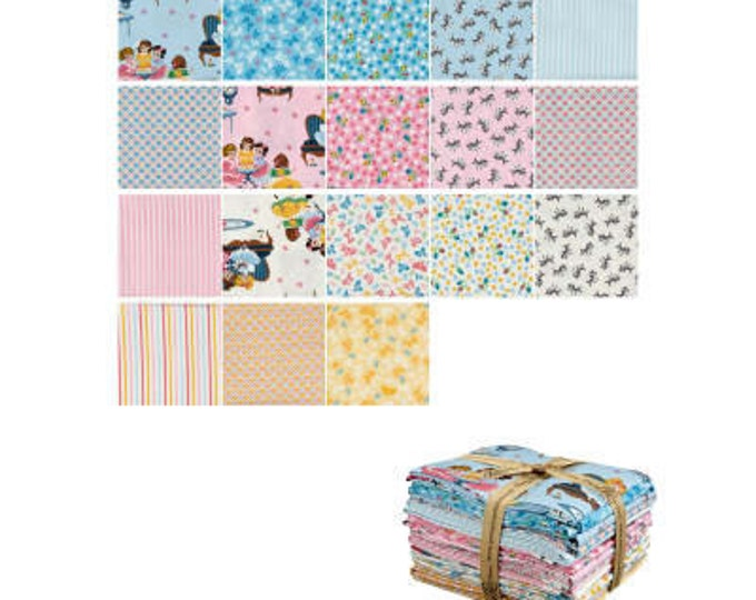 Fat Quarter Bundle - Petite Treat Fabric by Lindsay Wilkes for Riley Blake Designs and Penny Rose Fabrics