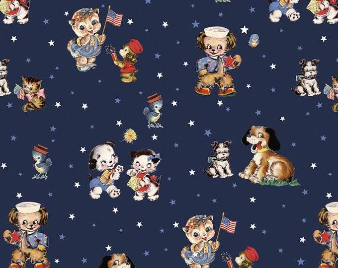 Yardage Main Navy - Set Sail America Fabric by Lindsay Wilkes for Riley Blake Designs