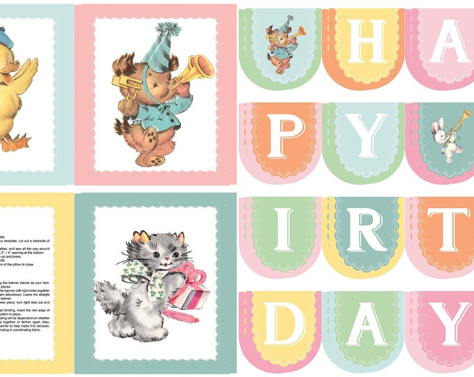 Perfect Party Fabric by Lindsay Wilkes from The Cottage Mama for Riley Blake Designs and Penny Rose Fabrics - Birthday Panel