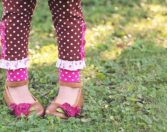 PDF Sewing Pattern - Maisie Skirt and Leggings Girls Pattern, Size 6 Month through 10 Years