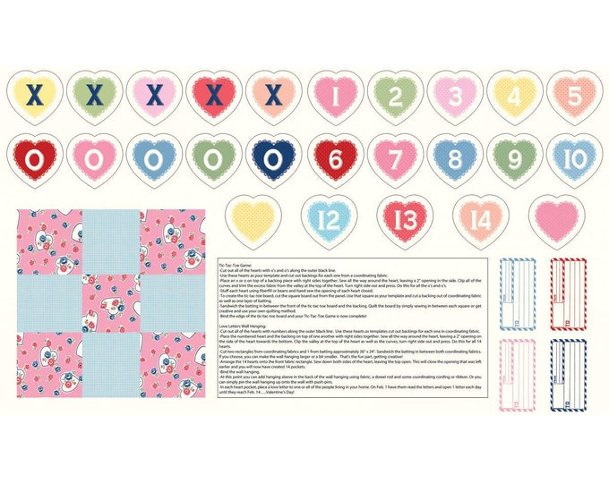 Love Letters Fabric by Lindsay Wilkes from The Cottage Mama for Riley Blake Designs - Panel