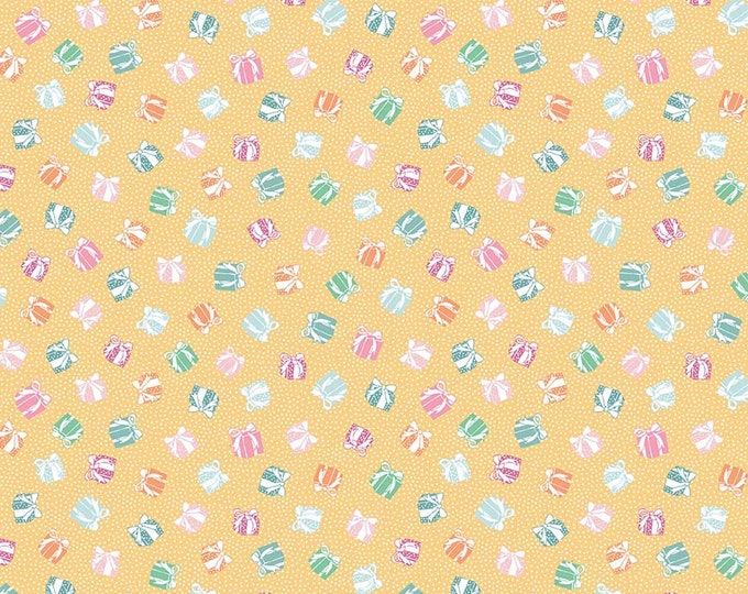 Perfect Party Fabric by Lindsay Wilkes from The Cottage Mama for Riley Blake Designs and Penny Rose Fabrics - Presents Yellow