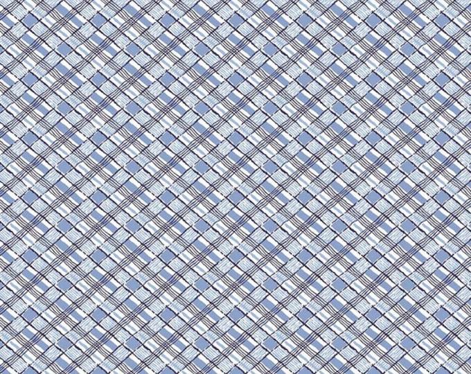 Yardage Plaid Blue - Set Sail America Fabric by Lindsay Wilkes for Riley Blake Designs
