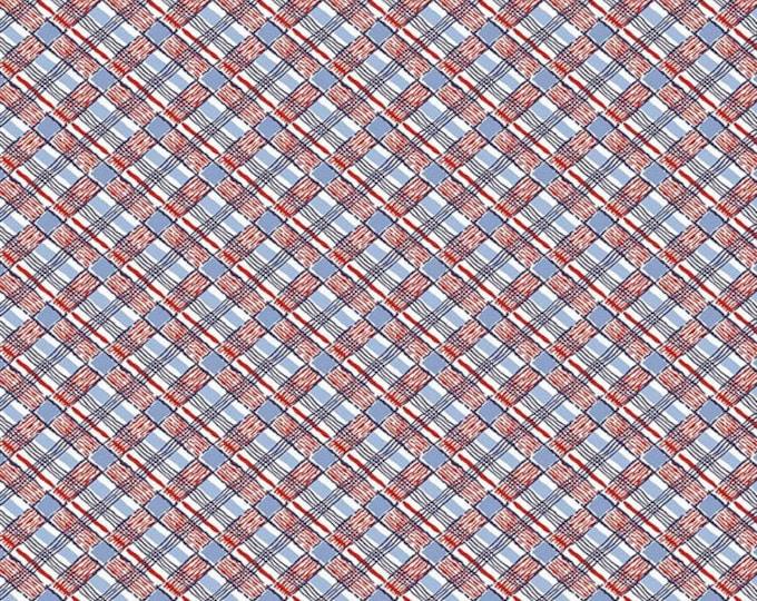 Yardage Plaid Red - Set Sail America Fabric by Lindsay Wilkes for Riley Blake Designs