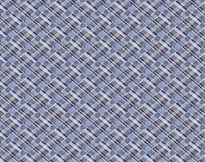 Yardage Plaid Navy - Set Sail America Fabric by Lindsay Wilkes for Riley Blake Designs