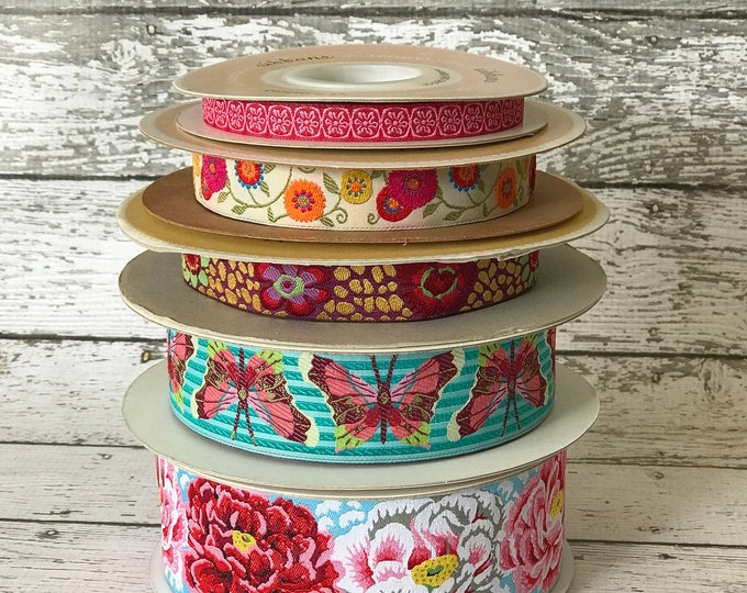 Designer Ribbon Trim Pack - Flowers
