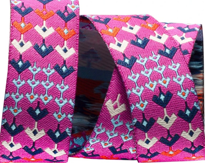 Magenta Prismatic Ribbon, 1 Yard by The Cottage Mama