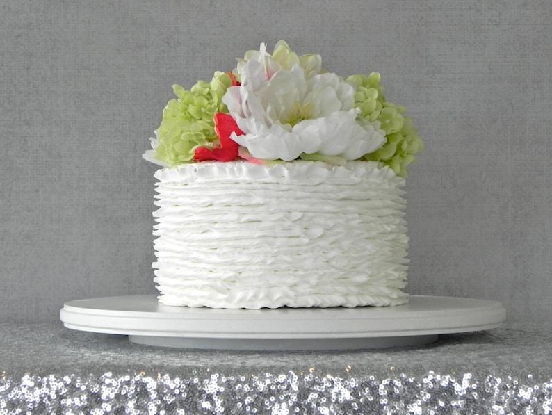 20 Cake Stand Cupcake White Round Rustic Vintage