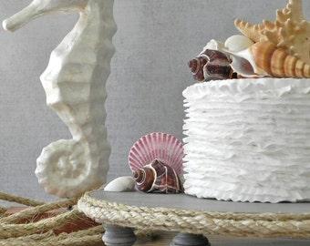 "20"" Cake Stand Cupcake Beach Nautical Rope Cake Topper Driftwood Rustic Wedding E. Isabella Designs Featured In Martha Stewart Weddings"