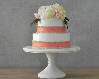 """14"""" Cake Stand Wedding Cake Stand Pedestal Stand White Cake Stand Wedding Cake E. Isabella Designs Featured In Martha Stewart Weddings"""