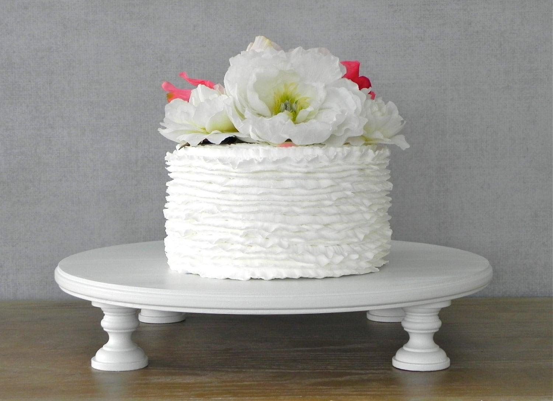 18 Cake Stand Wedding Cupcake Round White Wooden Rustic