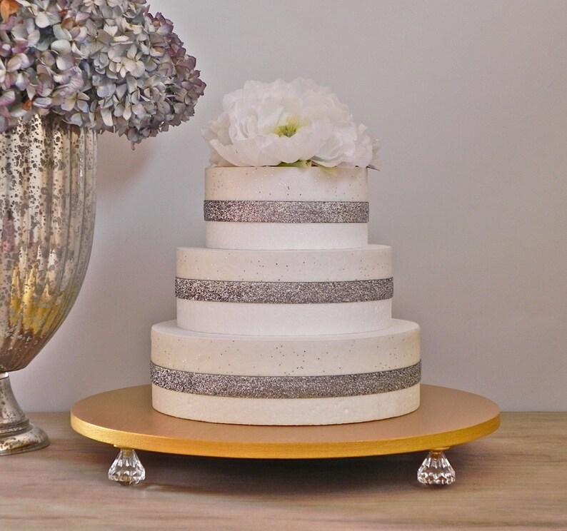 Wedding Cake Stand 16 Gold Metallic Cake Stand Gold Cake image 0