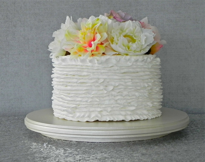 12 Cake Stand Wedding Ivory Pearl Rustic
