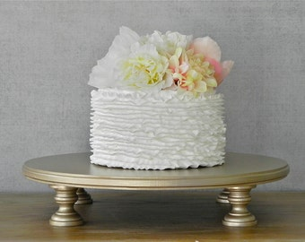 """22"""" Cake Stand Wedding Champagne Round Cupcake Grooms Cake Topper Event Decor By E. Isabella Designs As Featured In Martha Stewart Weddings"""