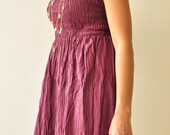 Top Of the world.... Purple cascual long sundress,tube top