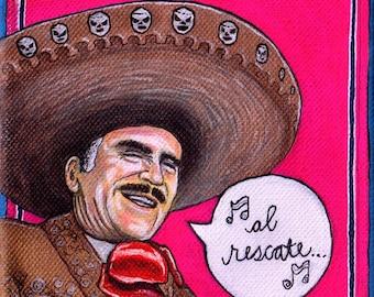 Chente Vicente Fernandez Mexican Pop Art Print
