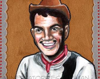 Cantinflas Gold Mexican Pop Art Print