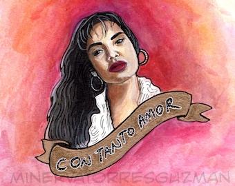 "Selena - ""Con Tanto Amor"" Art Print"