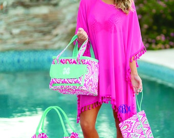monogrammed beach coverup