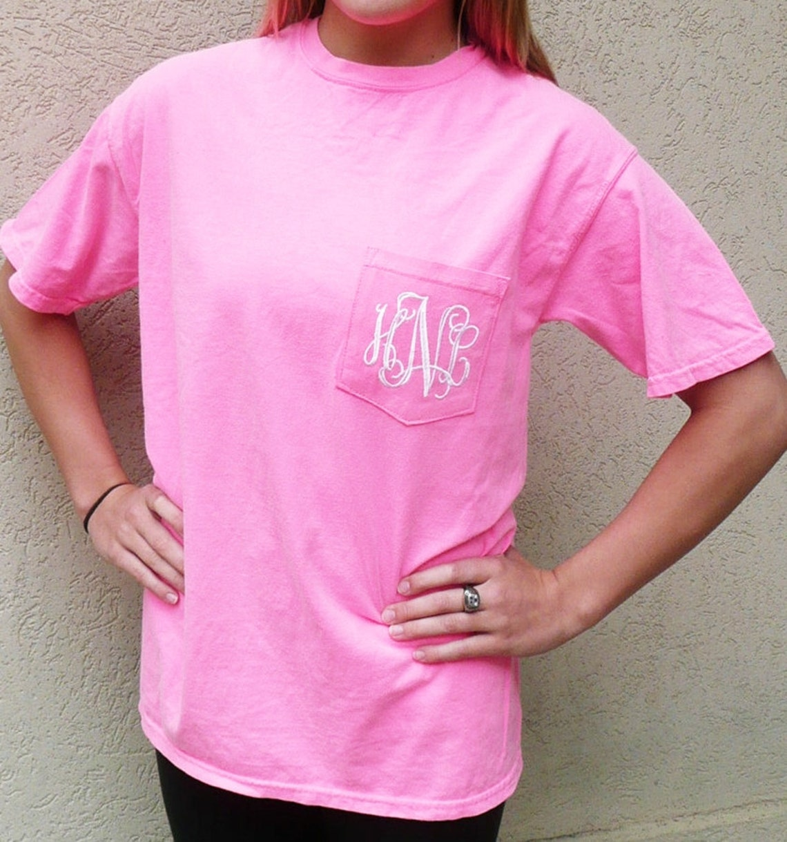 Comfort Colors T Shirt Personalized Pocket T Shirt Etsy