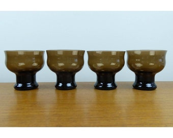 Vintage Lenox Clarion Brown - (4) Champagne/Sherbet Glasses - 1977 - EXC COND