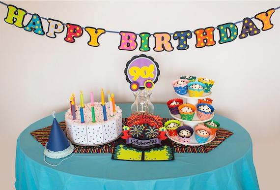 Bright And Happy Birthday Digital Cutting Kit SVG PDF