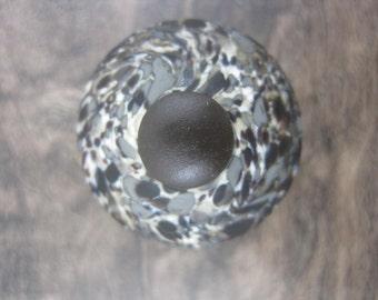 Hand Made Flameworked Glass Knob- Pebble 2