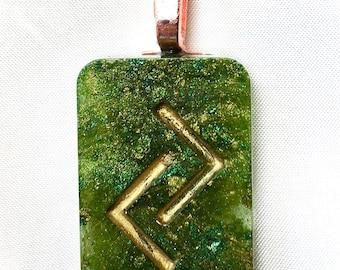 Resin Rune Pendant- Harvest/ Jera