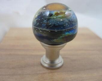 Hand Made Flamework Glass Knob- Billions