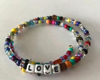 LOVE:  A Birdsong Art Bracelet.  LOVE001